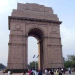 This is an image of the Gate of India in Delhi.