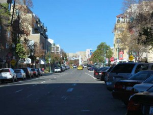 This is a photo of India Street as you drive towards Little Italy.