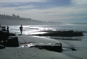 Moonlight Beach looking south, Encinitas CA Jan 16 2011