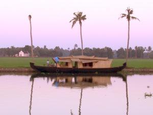 Kettuvallam (Converted rice barge for Kerala Tourism); Kerala Boat, Houseboat; Anne Marie Peterson-Kolatkar photography; copyright 2002
