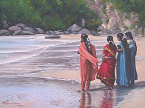 Kerala Girls on Lighthouse Beach Kovalam Kerala India